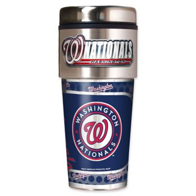 MLB Washington Nationals 16 oz. Metallic Tumbler