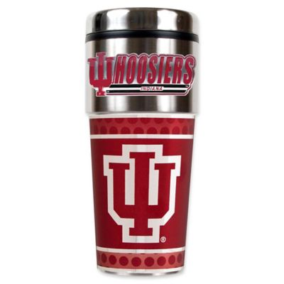 University of Indiana 16 oz. Metallic Tumbler