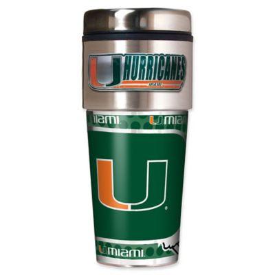 University of Miami 16 oz. Metallic Tumbler