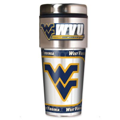 West Virginia University 16 oz. Metallic Tumbler
