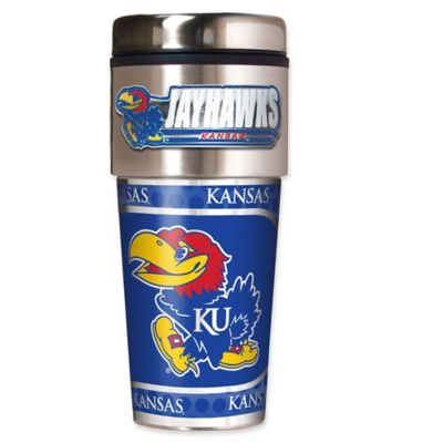 University of Kansas 16 oz. Metallic Tumbler