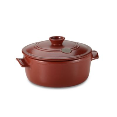 Emile Henry® Flame Top 4.2-Quart Red Covered Casserole
