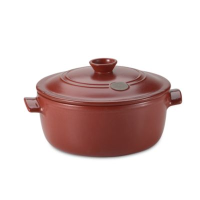 Emile Henry® Flame Top 5 1/2-Quart Red Covered Casserole