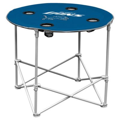 NFL Detroit Lions Round Collapsible Table