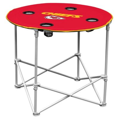 NFL Kansas City Chiefs Round Collapsible Table
