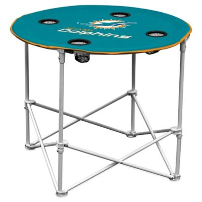 NFL Miami Dolphins Round Collapsible Table