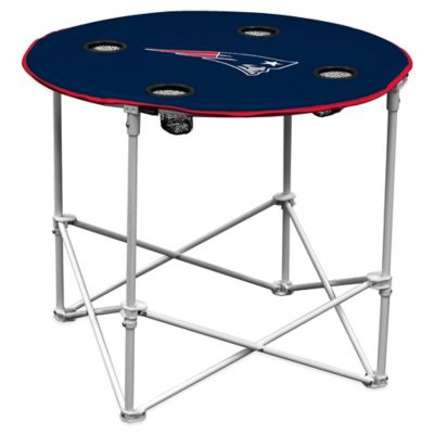 NFL New England Patriots Round Collapsible Table