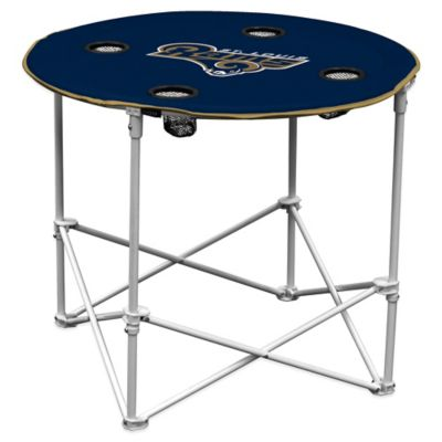 NFL St. Louis Rams Round Collapsible Table