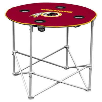 NFL Washington Redskins Round Collapsible Table