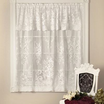 Downton Abbey Aristocrat 18-Inch Window Valance in White