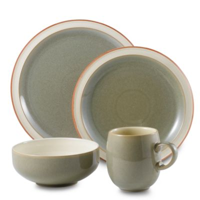 Denby Fire 4-Piece Place Setting in Sage