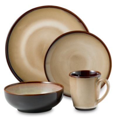 Nova Brown 16-Piece Dinnerware Set