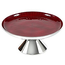 Simplydesignz Bodoni 12-Inch Dessert Stand in Ruby Red