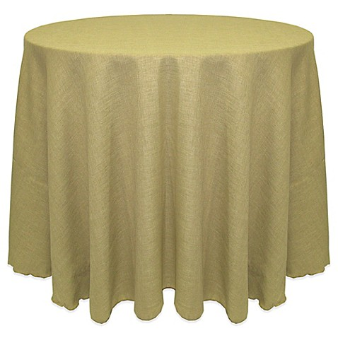 Buy havana rustic faux burlap 108 inch round tablecloth in for 108 inch round table cloth