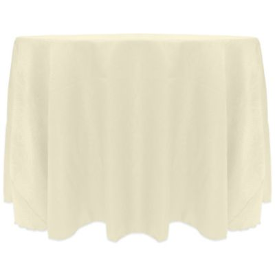 Kenya Contemporary African-Inspired Damask Textured 90-Inch Round Tablecloth in Natural