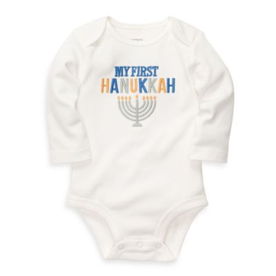 Carter's® Size 12M My First Hanukkah Bodysuit in White