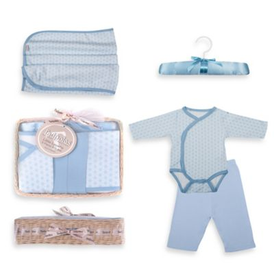Tadpoles Starburst Size 0-6M 5-Piece Luxury Layette Baby Gift Set in Blue