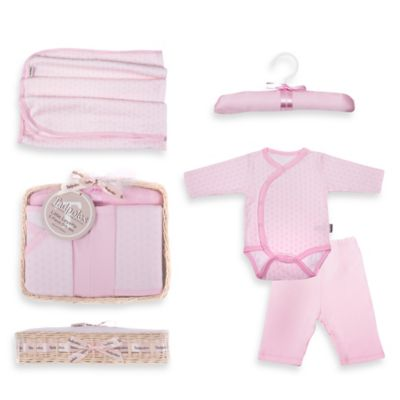 Tadpoles Starburst Size 0-6M 5-Piece Luxury Layette Baby Gift Set in Pink