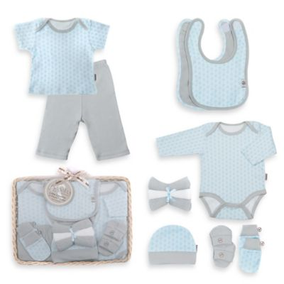 Tadpoles Starburst Size 6-12M 12-Piece Ultimate Layette Baby Gift Set in Blue