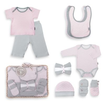 Tadpoles Starburst Size 0-6M 12-Piece Ultimate Layette Baby Gift Set in Pink
