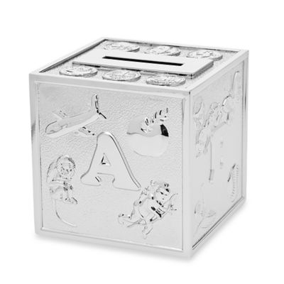 Godinger Icon Cube Money Bank