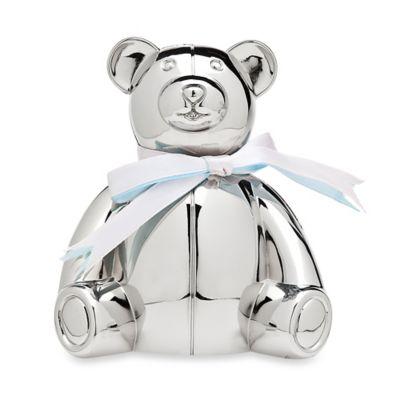Godinger Teddy Bear Money Bank