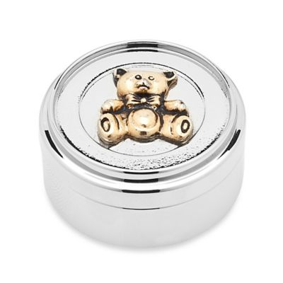 Godinger Teddy Bear Gold Accent Trinket Box
