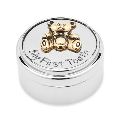 Godinger My First Tooth Bear and Gold Accent Box