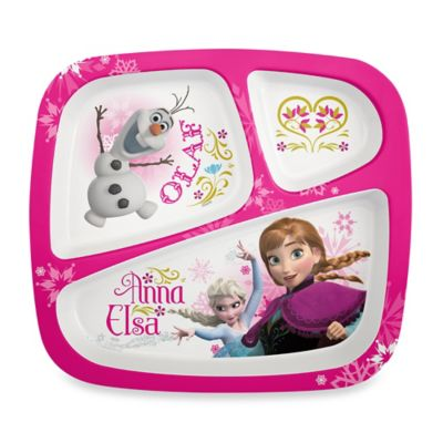 Zak! Designs® Frozen Divided Kid's Dinner Plate