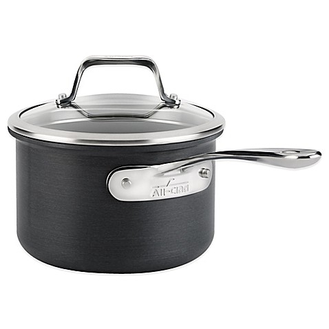 All Clad B1 Hard Anodized Nonstick 2 Qt Saucepan With Lid