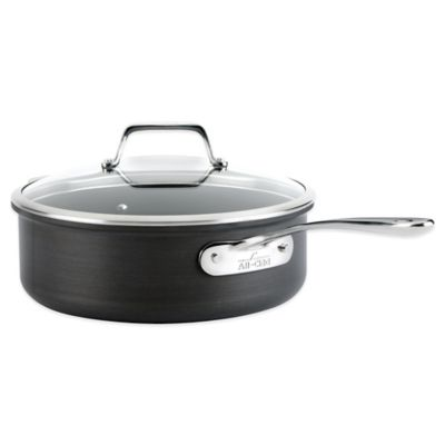 All-Clad B1 Hard Anodized Nonstick 4-Quart Sauté Pan with Lid
