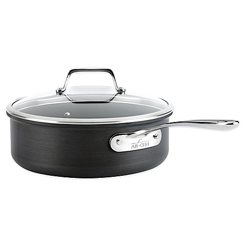 All Clad B1 Hard Anodized Nonstick 4 Quart Saut 233 Pan With
