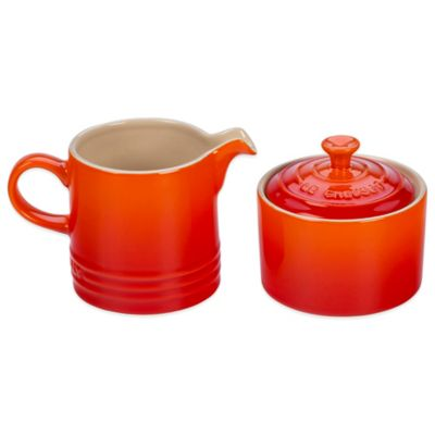 Le Creuset® 3.5-Inch Cream and 2.5-Inch Sugar Set in Flame