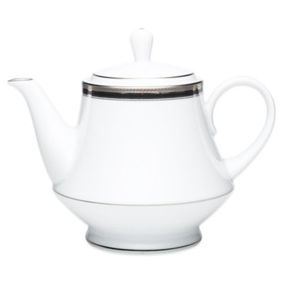 Dishwasher Safe Platinum Teapot