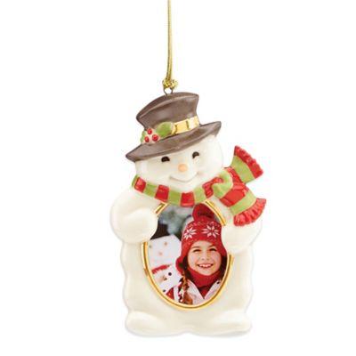 Lenox® Snowman Frame Ornament