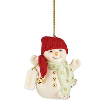 Lenox® Jingle All the Way Snowman Ornament
