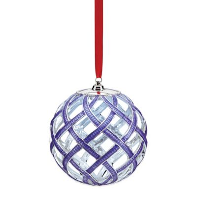 Lenox® Woven Enamel Lit Ornament in Purple
