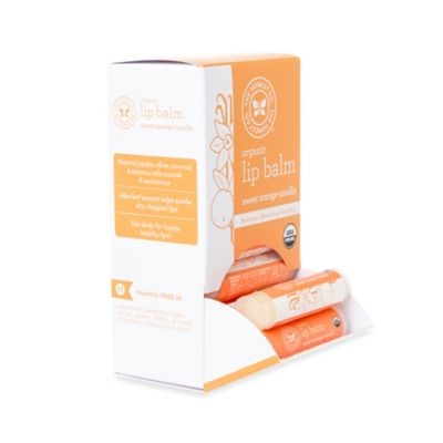 Honest .15 oz. Organic Lip Balm in Orange Vanilla