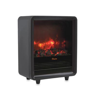 Crane Electric Fireplace Heater in Black