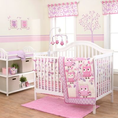 Belle Dancing Owl Crib Bedding Collection > Belle Dancing Owl 3-Piece Crib Bedding Set