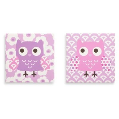 Belle Dancing Owl Crib Bedding Collection > Belle Dancing Owl 2-Piece Canvas Wall Art