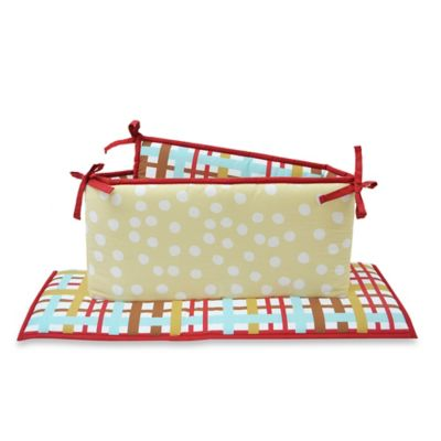 Belle Puppy Play 4-Piece Reversible Crib Bumper