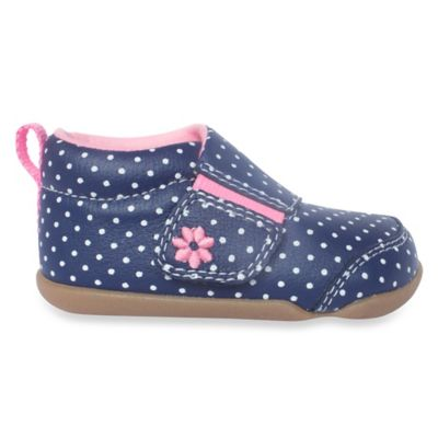 Carter's® Every Step Stage 2 Size 3.5 Standing Shoe in Navy Dots