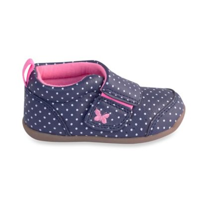 Carter's® Every Step Stage 3 Size 4 Walking Shoe in Navy Dots