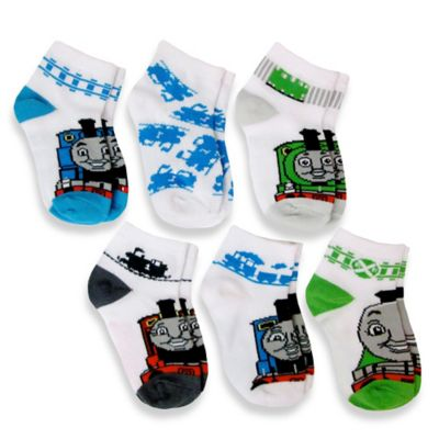 Size 6-12M 6-Pack Thomas & Friends™ Boys Quarter Socks in Assorted Designs