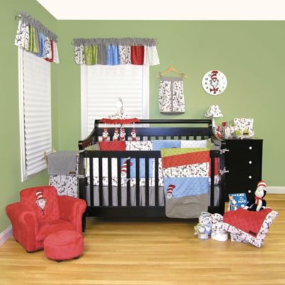 Black Crib Bedding Set