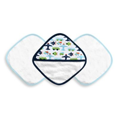 JJ Cole® 3-Piece Washcloth Set in White Vroom