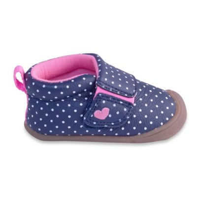 Carter's® Every Step Abby Size 2.5 Stage 1 Shoe in Navy Dots