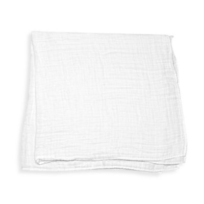 iPlay.® Brights Organic Muslin Swaddle Blanket in White