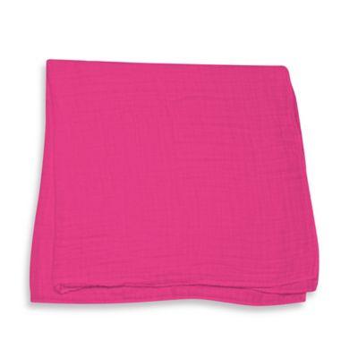 iPlay.® Brights Organic Muslin Swaddle Blanket in Fuchsia